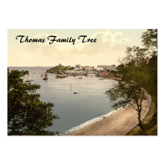 Tenby, Pembrokeshire, Wales Large Business Card