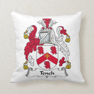 Tench Family Crest Pillow