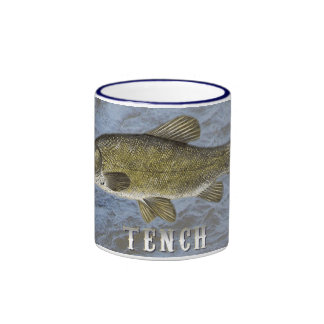Tench Freshwater Fish, With Water Background Image Ringer Coffee Mug