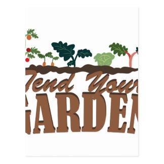 Tend Your Garden Postcard
