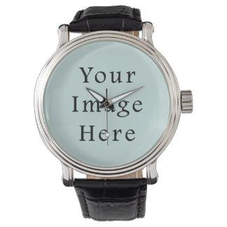 Tendencia azul ligera del color verde de la espuma relojes de mano