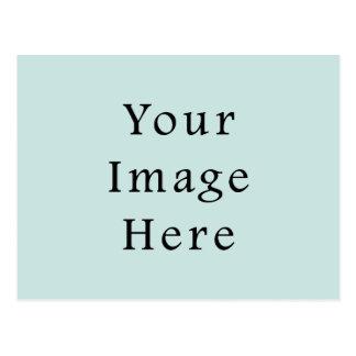 Tendencia azul ligera del color verde de la espuma tarjetas postales