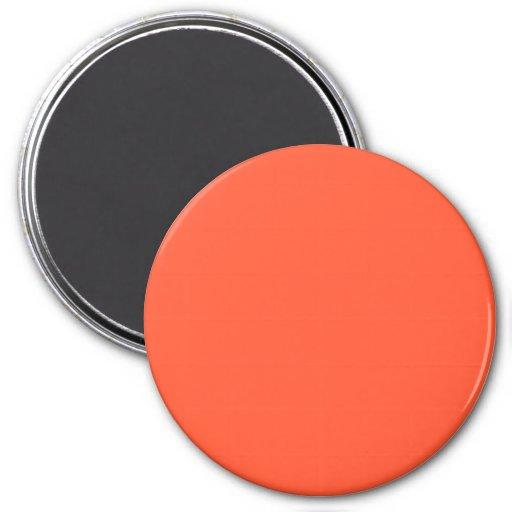 Tendencia brillante anaranjada 2014 del color de l imán para frigorifico