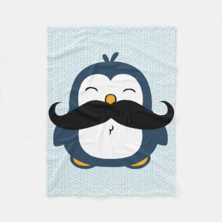 Tendencia del bigote del pingüino manta de forro polar