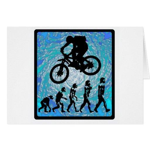 TENDENCIA ESCARPADA de la bici Tarjeta De Felicitación