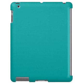 Tendencia fresca del color verde de la aguamarina  funda para iPad