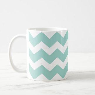 Tendencia moderna azul del modelo de zigzag del taza