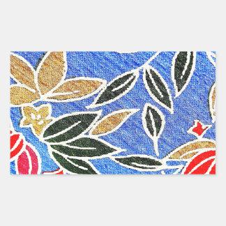 tendencia redonda l del diseño moderno de la tela pegatina rectangular