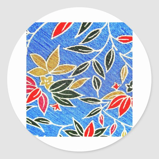 tendencia redonda l del diseño moderno de la tela etiqueta redonda