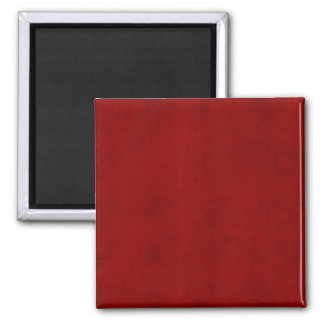 Tendencia sólida roja del fondo del color del día imán cuadrado