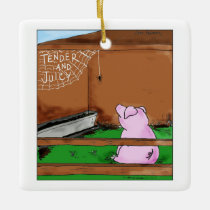 Tender and Juicy Charlotte's Web Cartoon Ceramic Ornament
