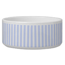 Tender Baby Blue Pale Sky Blue and White Stripe Bowl