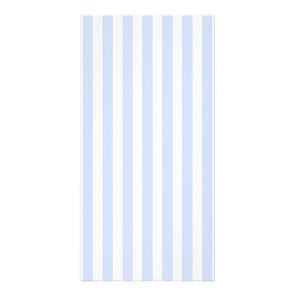 Tender Baby Blue Pale Sky Blue and White Stripe Card