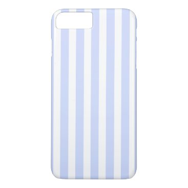 Beach Themed Tender Baby Blue Pale Sky Blue and White Stripe iPhone 7 Plus Case