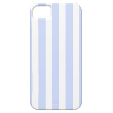 Beach Themed Tender Baby Blue Pale Sky Blue and White Stripe iPhone SE/5/5s Case