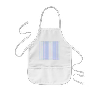 Tender Baby Blue Pale Sky Blue and White Stripe Kids' Apron