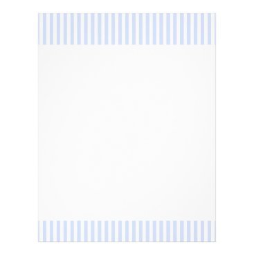 Beach Themed Tender Baby Blue Pale Sky Blue and White Stripe Letterhead