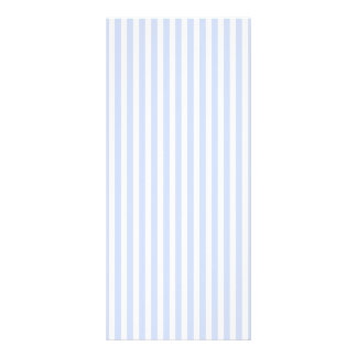Tender Baby Blue Pale Sky Blue and White Stripe Rack Card