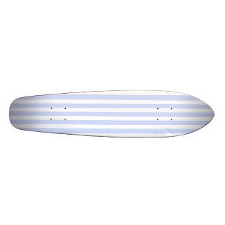 Tender Baby Blue Pale Sky Blue and White Stripe Skateboard