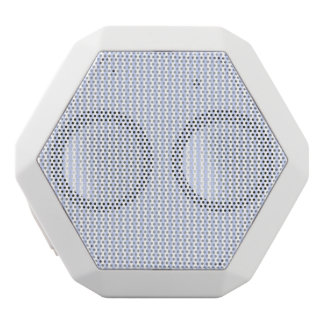Tender Baby Blue Pale Sky Blue and White Stripe White Bluetooth Speaker