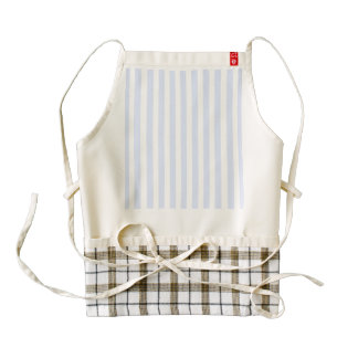 Tender Baby Blue Pale Sky Blue and White Stripe Zazzle HEART Apron
