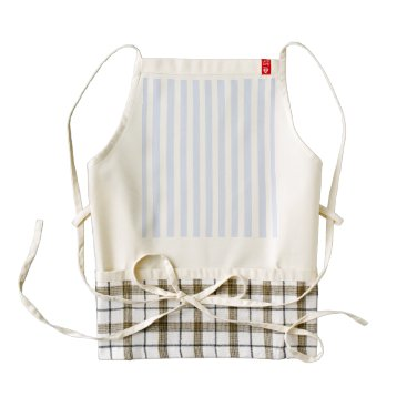 Beach Themed Tender Baby Blue Pale Sky Blue and White Stripe Zazzle HEART Apron