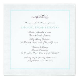 Tender Branch Blue Invitation