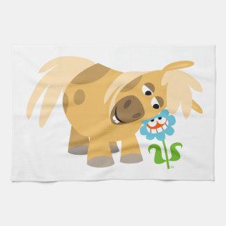 Tender Cartoon Pony and Flower Kitchen Towel