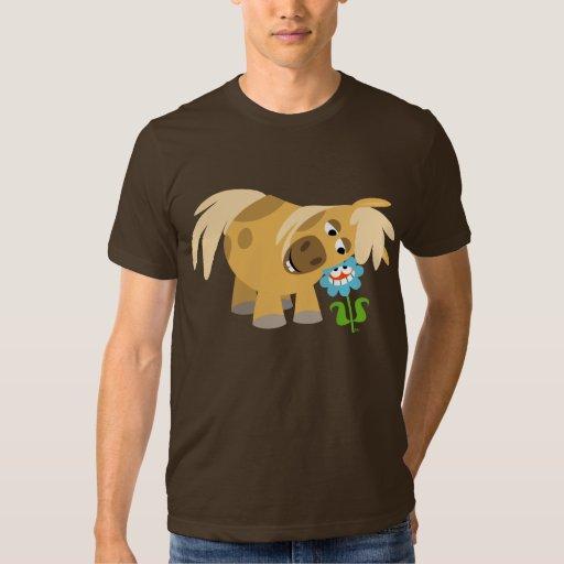 Tender Cartoon Pony and Flower T-shirt
