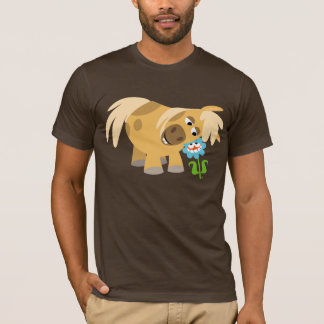 Tender Cartoon Pony and Flower T-shirt
