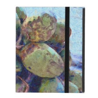 Tender coconuts in a pile iPad folio case