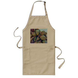 Tender coconuts in a pile long apron