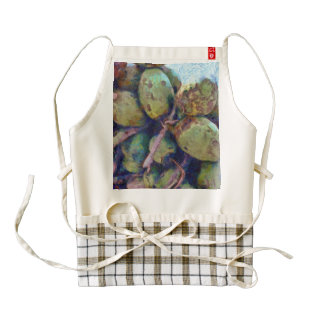 Tender coconuts in a pile zazzle HEART apron