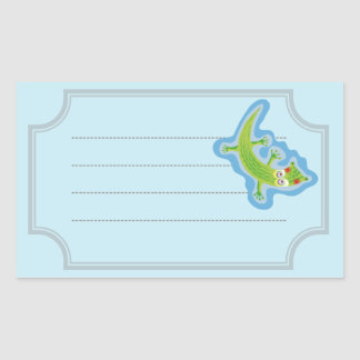 Tender crocodile rectangular sticker