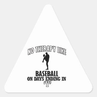 Tender diseños del béisbol pegatina triangular