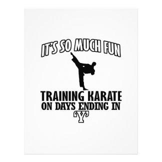 Tender diseños del karate membrete a diseño
