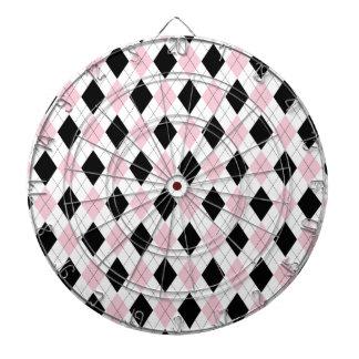 Tender el accesorio blanco rosado negro del modelo tablero de dardos