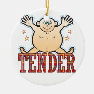 Tender Fat Man Ceramic Ornament