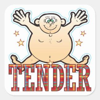 Tender Fat Man Square Sticker