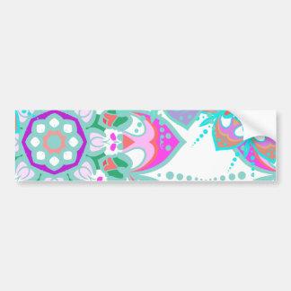 Tender floral pattern car bumper sticker