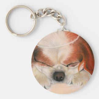 Tender Heart Angel Puppy Keychain