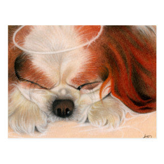 Tender Heart Angel Puppy Postcard