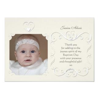 "Tender Heart Photo Thank You 5"" X 7"" Invitation Card"