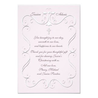 Tender Heart Pink Religious Thank You Vertical Card