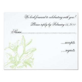Tender Lilies RSVP Card