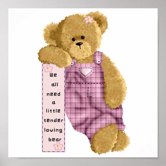 Tender Loving Bear Poster