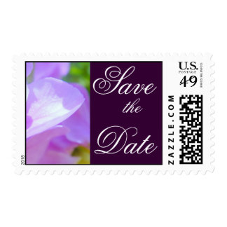 Tender Petals Purple save the Date Postage Stamp