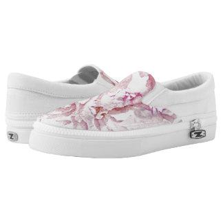 tender pretty peonies petals Slip-On sneakers