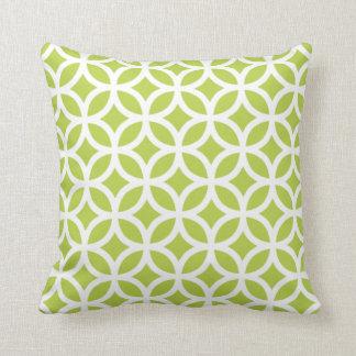 Tender Shoots Green Geometric Pillow