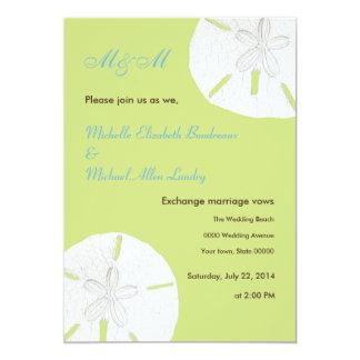 Tender Shoots Green Sand Dollar Wedding Card